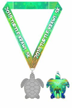 2018 Turtle Krawl medal